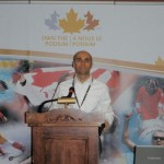 El fisiólogo Iñigo Mujika, durante su intervención en Ottawa, Canadá, dentro del programa Own the Podium.