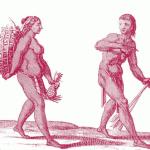 Recolectora y cazador caribes