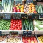 Frutas y verduras en un mercado de París (Foto: Iñigo Mujika)