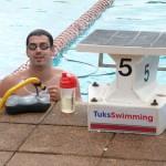 El recordman mundial Rafa Muñoz, entrenando en Sudáfrica