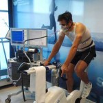 Miguel Indurain, during the test
