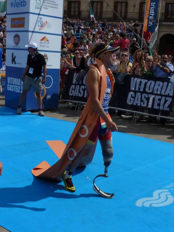 El paratriatleta vasco Mikel Garmendia, Campeón del Mundo (Foto: Iñigo Mujika)