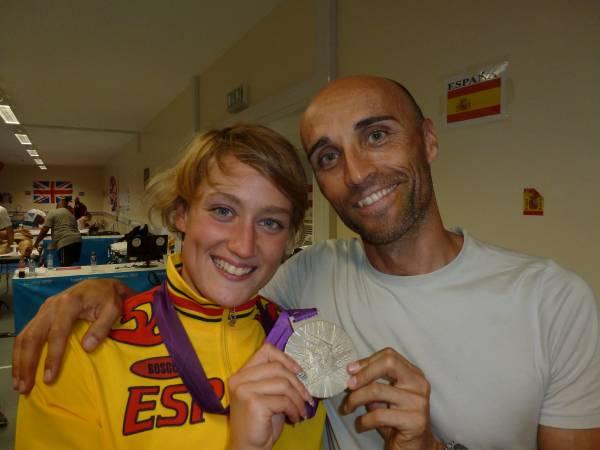 Con Mireia Belmonte y su medalla de plata