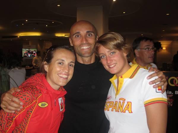 Con Ainhoa Murua y Mireia Belmonte
