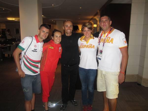 Con Jon Unanue, Ainhoa Murua, Mireia Belmonte y Fred Vergnaux