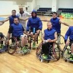 With the AUS wheelchair basketball team, 2004.