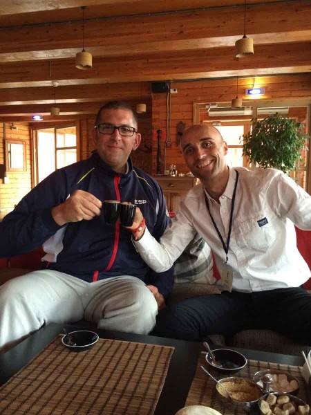 Con el gran Fred Vergnoux en Ignatiovo, Rusia (Foto: Iñigo Mujika)