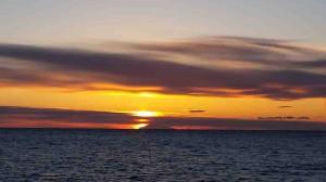 Puesta de sol en Reykjavik (Foto: Iñigo Mujika)